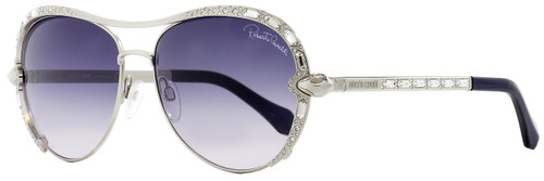 Roberto Cavalli Aviator Sunglasses RC975S Sulaphat 16B Palladium/Blue 59mm 975