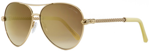 Roberto Cavalli Aviator Sunglasses RC976S Syrma 28G Gold/Light Horn 61mm 976