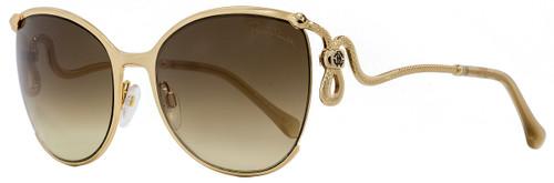 Roberto Cavalli Oval Sunglasses RC1025 Careggine 28G Gold 59mm 1025