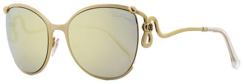 Roberto Cavalli Oval Sunglasses RC1025 Careggine 32C Pale Gold 59mm 1025