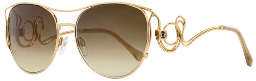 Roberto Cavalli Oval Sunglasses RC1026 Carmignano 28G Gold 61mm 1026