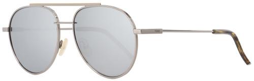 Fendi Oval Sunglasses FF0222S 6LBT4 Ruthenium 56mm 222