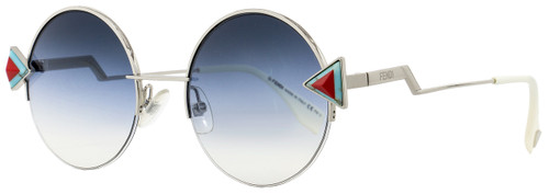 Fendi Round Sunglasses FF0243S SCBNE Silver/White 51mm 243