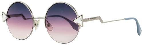 Fendi Round Sunglasses FF0243S TJVFF Silver/Powder Blue 51mm 243