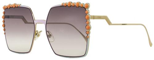 Fendi Square Sunglasses FF0259S 35JNQ Pink/Gold 60mm 259