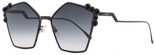 Fendi Square Sunglasses FF0261S 2O59O Black 57mm 261