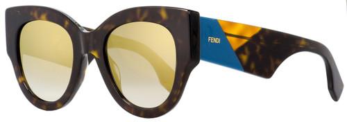 Fendi Oval Sunglasses FF0264S 086FQ Dark Havana 51mm 264