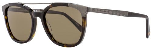 Ermenegildo Zegna Rectangular Sunglasses EZ0073 52M Dark Havana Polarized 54mm 73
