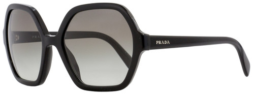 Prada Square Sunglasses SPR06S 1AB-0A7 Shiny Black 56mm PR06SS