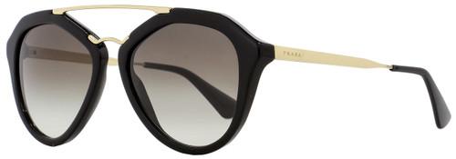 Prada Butterfly Sunglasses SPR12Q 1AB-0A7 Black/Gold 54mm PR12QS