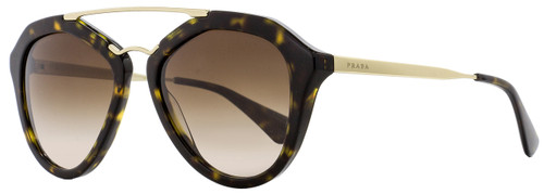 Prada Butterfly Sunglasses SPR12Q 2AU-6S1 Havana/Gold 54mm PR12QS