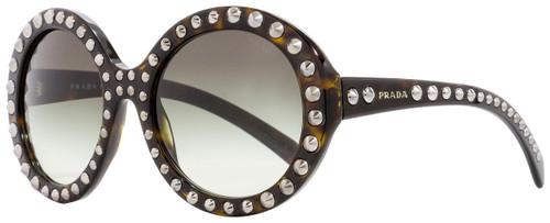 Prada Round Sunglasses SPR29Q 2AU-0A7 Havana 56mm PR29QS