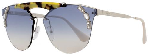 Prada Butterfly Sunglasses SPR53U 23C-5R0 White/Palladium/Havana 42mm PR53US