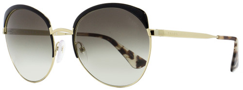 Prada Oval Sunglasses SPR54S QE3-0A7 Black/Gold 59mm PR54SS