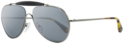 Prada Aviator Sunglasses SPR56S 5AV-7W1 Ruthenium/Gray/Vintage Havana 59mm PR56SS