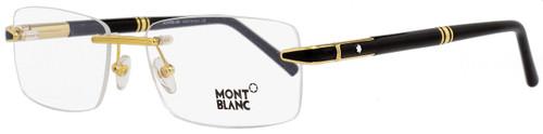 Montblanc Rimless Eyeglasses MB490 030 Yellow Gold/Black 55mm 490