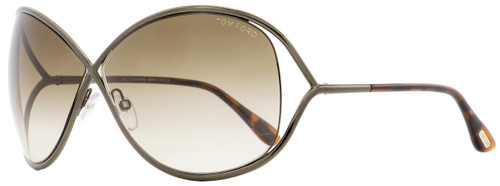 Tom Ford Butterfly Sunglasses TF130 Miranda 36F Dark Bronze/Havana 68mm FT0130