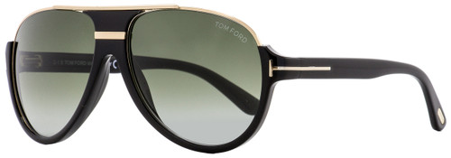 Tom Ford Aviator Sunglasses TF334 Dimitry 01P Shiny Black/Gold 59mm FT0334