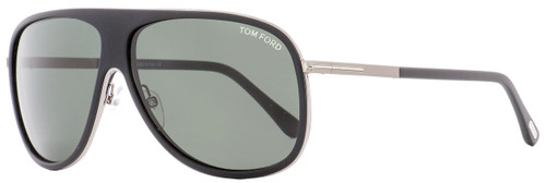 Tom Ford Square Sunglasses TF462 Chris 02N Matte Black/Ruthenium 62mm FT0462
