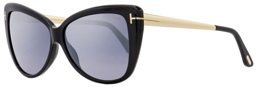 Tom Ford Butterfly Sunglasses TF512 Reveka 01C Black/Gold 59mm FT0512