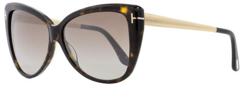 Tom Ford Butterfly Sunglasses TF512 Reveka 52G Dark Havana/Gold 59mm FT0512
