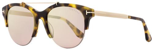 Tom Ford Oval Sunglasses TF517 Adrenne  56Z Tortoise/Gold 55mm FT0517