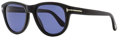 Tom Ford Oval Sunglasses TF520 Benedict 01V Shiny Black 53mm FT0520
