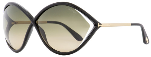 Tom Ford Butterfly Sunglasses TF528 Liora 01B Black/Gold 70mm FT0528