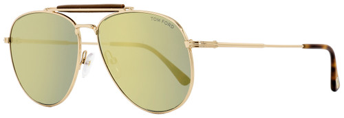 Tom Ford Aviator Sunglasses TF536 Sean 28C Gold/Blonde Havana 60mm FT0536