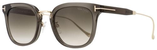 Tom Ford Square Sunglasses TF548K 20F Transparent Gray/Gold 53mm FT0548