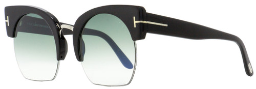 Tom Ford Oval Sunglasses TF552 Savannah-02 01W Black/Palladium 55mm FT0552
