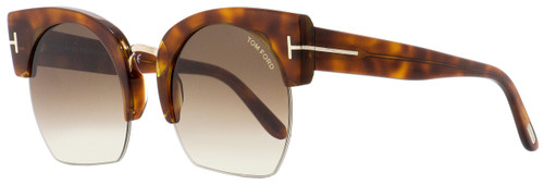 Tom Ford Oval Sunglasses TF552 Savannah-02 53F Blonde Havana 55mm FT0552