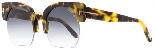 2071d354fe547 Tom Ford Oval Sunglasses TF552 Savannah-02 56B Tortoise 55mm FT0552