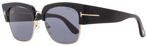 Tom Ford Square Sunglasses TF554 Dakota-02 01A Black/Gold 55mm FT0554