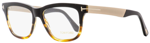 Tom Ford Square Eyeglasses TF5372 005 Black/Shaded Havana 54mm FT5372