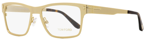 Tom Ford Eyeglasses TF5475 32E Satin Gold/Havana 54mm FT5475 w/ Clip-On