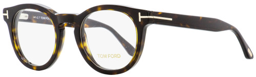 Tom Ford Oval Eyeglasses TF5489 052 Dark Havana 48mm FT5489