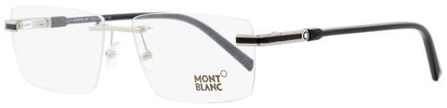 Montblanc Rimless Eyeglasses MB692 016 Palladium/Black 57mm 692