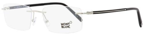 Montblanc Rimless Eyeglasses MB731 016 Palladium/Black 56mm 731