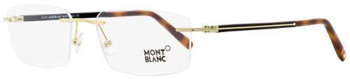 Montblanc Rimless Eyeglasses MB731 032 Gold/Black/Havana 56mm 731