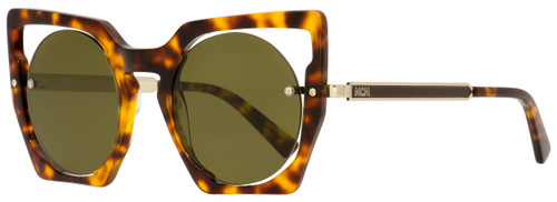 MCM Round Sunglasses MCM655S 214 Havana/Gold 48mm 655