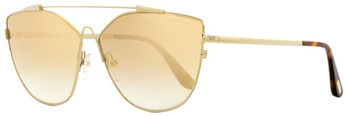 Tom Ford Butterfly Sunglasses TF563 Jacquelyn-02 33G Gold/Vintage Havana 64mm FT0563