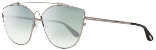 Tom Ford Butterfly Sunglasses TF563 Jacquelyn-02 14X Ruthenium/Black 64mm FT0563