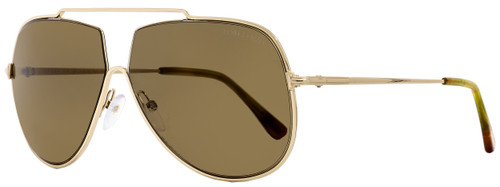 Tom Ford Aviator Sunglasses TF586  Chase-02 28E Gold/Amber 61mm FT0586