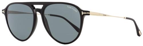 Tom Ford Aviator Sunglasses TF587 Carlo-02 01V Black/Gold 58mm FT0587