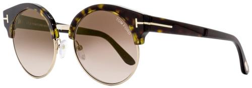 Tom Ford Round Sunglasses TF608 Alissa-02 52G Havana/Gold 54mm FT0608