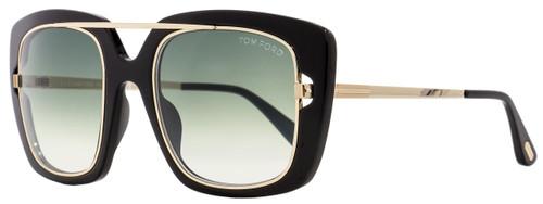 Tom Ford Square Sunglasses TF619 Marissa-02 01B Black/Gold 52mm FT0619