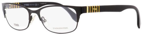 Fendi Rectangular Eyeglasses FF0033 5LQ Shiny Black 53mm 033