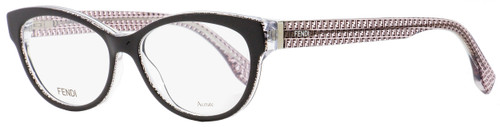Fendi Oval Eyeglasses FF0109 6ZV Black/Transparent 52mm 109
