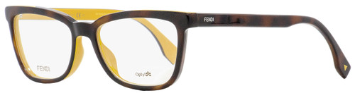 Fendi Rectangular Eyeglasses FF0122 MFR Havana/Ochre 51mm 122